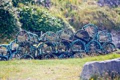 Pots de homard, Aran Island, Irlande Photos libres de droits