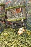 Pots de homard et équipement associé Photographie stock libre de droits