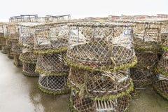 Pots de homard et équipement associé Images libres de droits
