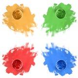 Pots de peinture Photo libre de droits