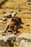 Pots de stockage, empire de Hattusha Photo stock