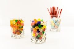 3 pots de sucrerie Photographie stock libre de droits
