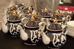 Pots de thé Photos stock
