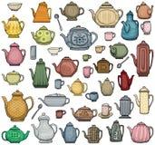 Pots de thé Photo stock