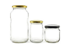 Pots en verre Images stock