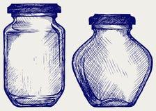 Pots en verre Image stock