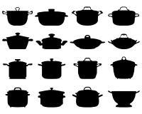 Pots et casseroles Image libre de droits