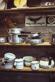 Pots et casseroles antiques Image stock