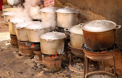 Pots on fire Royalty Free Stock Photo