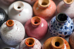 Pots in glaze Stock Photography