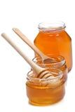 Pots of honey Royalty Free Stock Photos