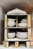 Pots in the kiln. Stock Photography