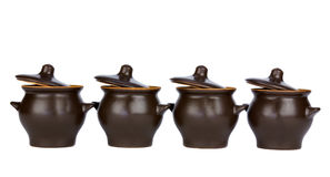 Pots with lids open Royalty Free Stock Image