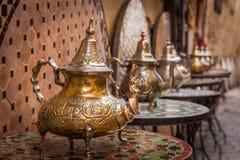 Pots marocains de thé Images stock