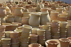 Pots on a middle east market Royalty Free Stock Image