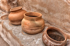 Pots in the Mission Stock Images