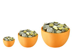 Pots of money Stock Photography