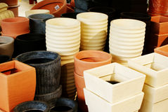 Pots And More Pots Stock Image