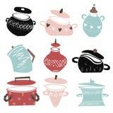 Pots multicolores illustration stock