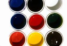 Pots Of Colors Stock Photo