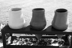 Pots ou pots de fleurs vides Image libre de droits