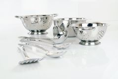 Pots and Pans. Against white backround Stock Photos