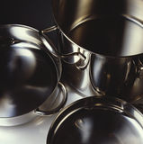 Pots and pans. A set of pots and pans Royalty Free Stock Photo