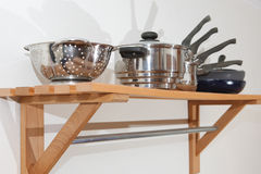 Pots and Pans Stock Photography