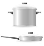 Pots and pans tableware vector illustration Stock Photo