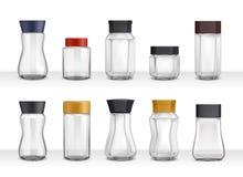 Pots réalistes de café soluble Image stock