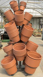 Pots. Set of pots arranged by size to plant flowers Royalty Free Stock Image