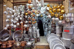 Pots store in old bazar Stock Photography