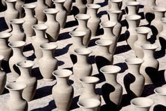 Pots on the street Stock Images