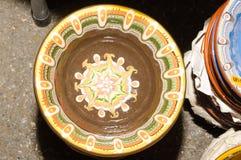 Pots traditionnels faits main image stock
