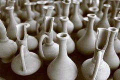 POTS. Turkey, Cappadocian pottery of artifacts stock image