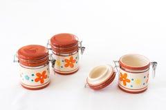 Pots utiles pour l'usage de cuisine Photo libre de droits
