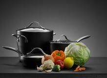 Pots and veggie Stock Image