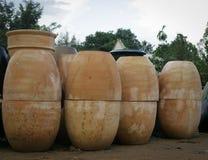 Pots vitrés de terre cuite Photo libre de droits