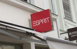 Potsdam, Berlin, Europe: 20th August 2018: Esprit Store sign royalty free stock photos