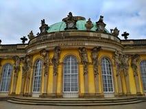 Potsdam/Duitsland - Maart 24 2018: Zonder Souci Palance, hoofdgebouw royalty-vrije stock fotografie