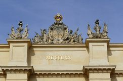 Potsdam Gate. Detailed view of the Brandenburg Gate in Potsdam Stock Photo