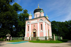 POTSDAM, GERMANY - AUGUST 15, 2017: Alexander Newski Church in the Russian Colony Alexandrowka in Po Royalty Free Stock Photography