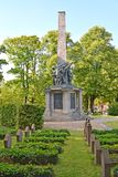 POTSDAM, GERMANY. A monument to the died Soviet soldiers at the memorial cemetery. Basseyn-plats Square Royalty Free Stock Photos