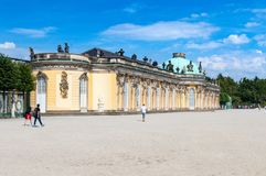 Sanssouci palace. Sanssouci is the summer palace of Frederick the Great, King of Prussia. stock photo