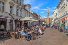 Brandenburg Street - Potsdam - Germany Royalty Free Stock Image