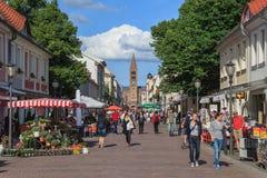 Brandenburg Street - Potsdam - Germany Royalty Free Stock Photo