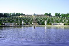 Potsdam Germany May 19: Sanssouci palace in Potsdam Royalty Free Stock Image