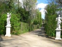 Potsdam gränd i Sanssouci parkerar Arkivfoton