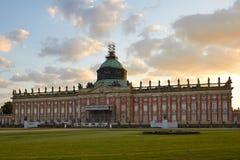 Potsdam Niemcy, Maj, - 28, 2014: Sanssouci pałac przy pogodnym summe Zdjęcia Stock