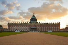 Potsdam Niemcy, Maj, - 28, 2014: Sanssouci pałac przy pogodnym summe Zdjęcia Royalty Free